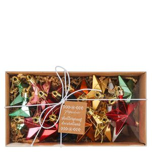 Multi Star Pack Christmas Decorations