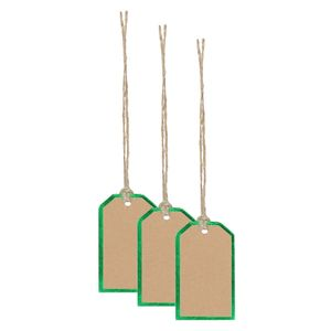Kraft green mini gift tags - pack of 10