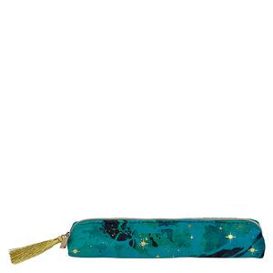 Slim Marble Velvet Pencil Case