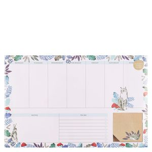 Into The Woods Weekly Desk Pad with Sticky Notes
