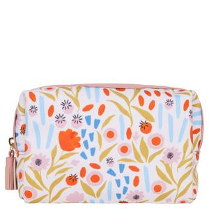 Pink Floral Cosmetic Bag