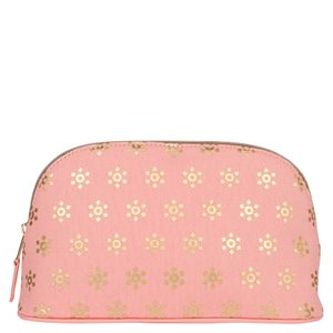 Gold print wash bag
