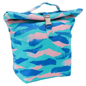 Brushstroke fold over lunch bag