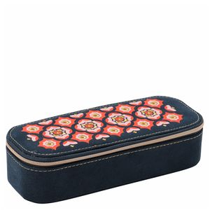 Embroidered jewellery box - large