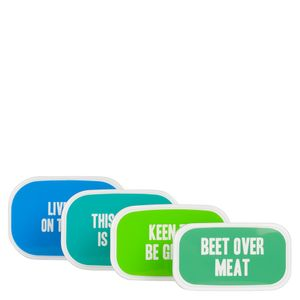 Vegan Quote Snack Boxes - set of 4