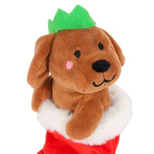 Puppy in Stocking Plush Toy