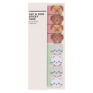 Cat and dog sticky tabs