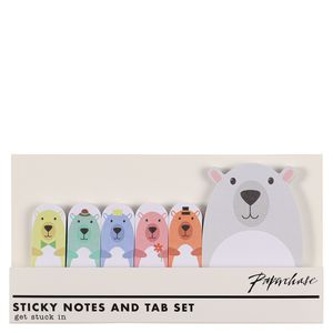 Bear sticky notes and tab set