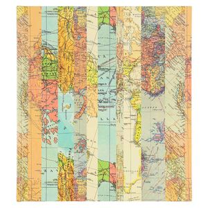 Large Striped Map Self-adhesive Photo Album