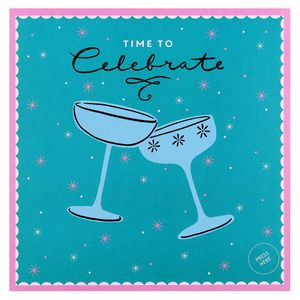 Champagne flutes celebration card