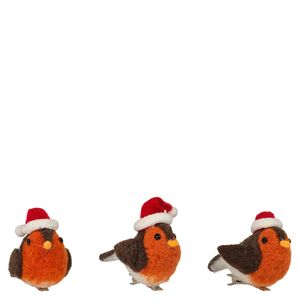 Felt Robin Clips Christmas Decorations - Pack of 3