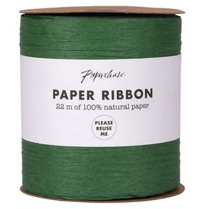 Extra wide green paper ribbon - 22m