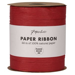 Extra wide red paper ribbon - 22m