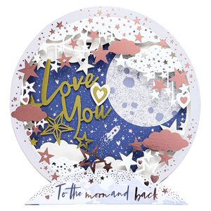Love you to the moon lasercut card