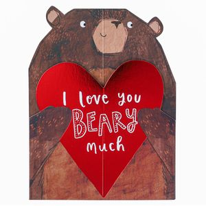 Love you beary much Valentines card