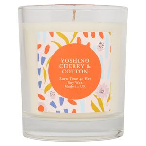 Floral Glass Candle