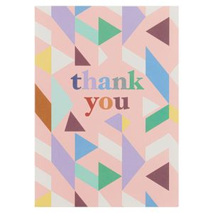Multi geo terrazo thank you notecards - pack of 10