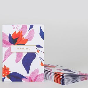Hanna floral thank you notecards - pack of 10