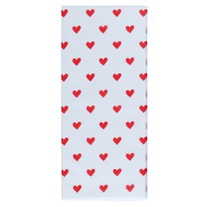 Red heart tissue paper - 3 sheets