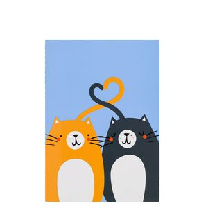 A5 cat pair notebook