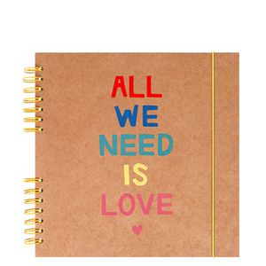 Medium all we need is love scrapbook