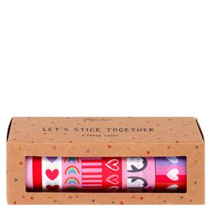 Valentine's set of 8 paper tapes
