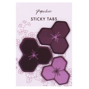Geo floral petal sticky tabs