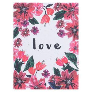 Floral love seed card