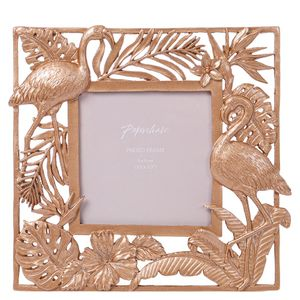 Gold flamingo frame