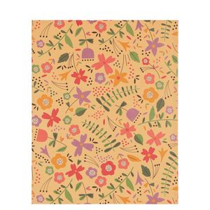 8x10 Kraft pastel flowers notebook