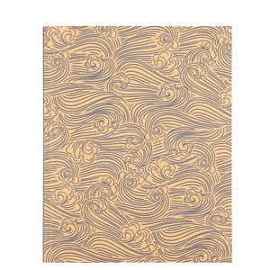 8x10 Kraft wind printed notebook