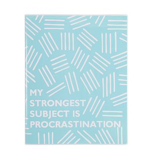 8x10 My strongest subject is procrastination notebook