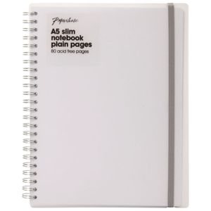 A5 Frosted plain notebook