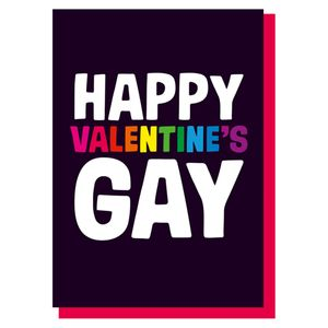 Happy Valentine's Gay card