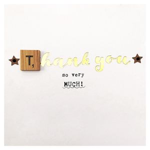 Scrabble square thank you card