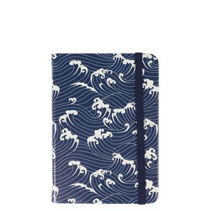 Agenzio hard navy waves ruled small notebook