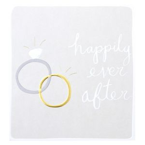 Happily ever after gold wedding card