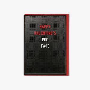Poo face Valentine's Day card