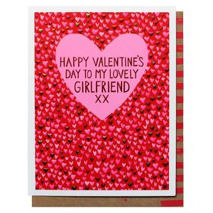 Hearts lovely girlfriend Valentine's Day card
