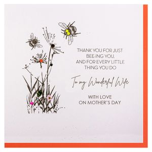 Bee wonderful wife Mother's day card