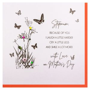 Laugh a little harder step mum Mother's day card