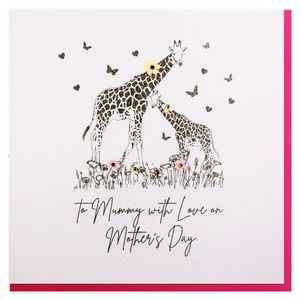 To mummy giraffes Mother's day card