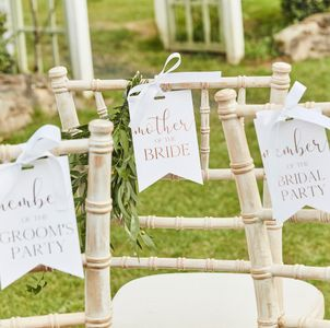 Wedding chair signs - pack of 6