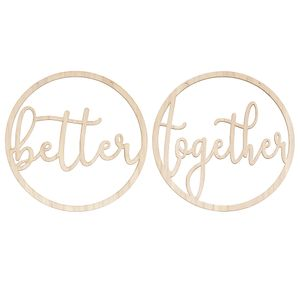 Better together wedding chair decorations
