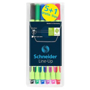 Schneider Line up fineliners - pack of 6