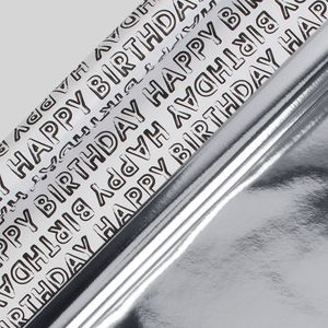 Kraft silver and birthday wrapping paper set – pack of 10