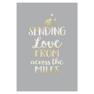 Love from across the miles card