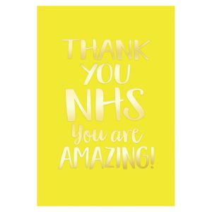 Thank you NHS card