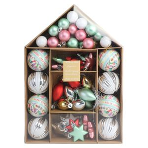 House Bauble Pack Bright