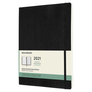 Moleskine XL Black Soft Cover Diary 2021